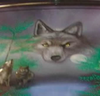 airbrushed wolfes